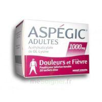 ASPEGIC ADULTES 1000 mg, poudre pour solution buvable en sachet-dose 20 à FESSENHEIM