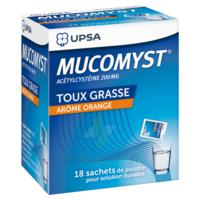 MUCOMYST 200 mg Poudre pour solution buvable en sachet B/18 à FESSENHEIM