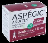 ASPEGIC ADULTES 1000 mg, poudre pour solution buvable en sachet-dose 30 à FESSENHEIM