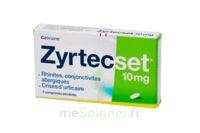 ZYRTECSET 10 mg, comprimé pelliculé sécable à FESSENHEIM