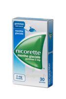 NICORETTE 2 mg Gom à mâcher médic sans sucre menthe glaciale Plq/30gom à FESSENHEIM