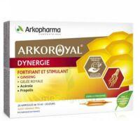 Arkoroyal Dynergie Ginseng Gelée royale Propolis Solution buvable 20 Ampoules/10ml à FESSENHEIM