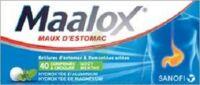 MAALOX HYDROXYDE D'ALUMINIUM/HYDROXYDE DE MAGNESIUM 400 mg/400 mg Cpr à croquer maux d'estomac Plq/40 à FESSENHEIM