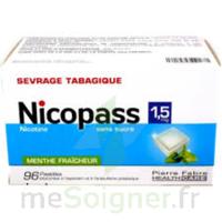 Nicopass 1,5 mg Pastille sans sucre menthe fraîcheur Plq/96 à FESSENHEIM