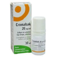CROMABAK 20 mg/ml, collyre en solution à FESSENHEIM