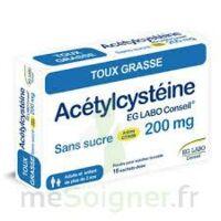 ACETYLCYSTEINE EG LABO CONSEIL 200 mg SANS SUCRE, poudre pour solution buvable en sachet-dose à FESSENHEIM