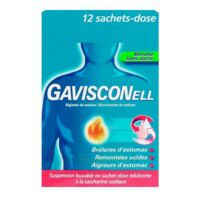 GAVISCONELL Suspension buvable sachet-dose menthe sans sucre 12Sach/10ml à FESSENHEIM