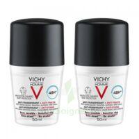 Vichy Homme Déodorant anti-transpirant anti trace 48H 2*Billes/50ml à FESSENHEIM
