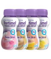 Fortimel Protein Nutriment multi saveurs caramel/vanille/fraise/mangue 4 Bouteilles/200ml à FESSENHEIM