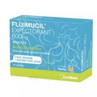 FLUIMUCIL EXPECTORANT ACETYLCYSTEINE 600 mg Glé s buv adultes 10Sach à FESSENHEIM